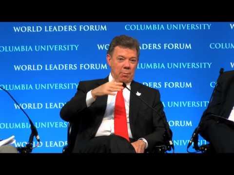 President Juan Manuel Santos of Colombia - Columbia World Leaders Forum (Spanish)