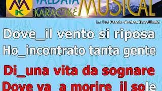 Le Tue Parole  Andrea Bocelli   Karaoke