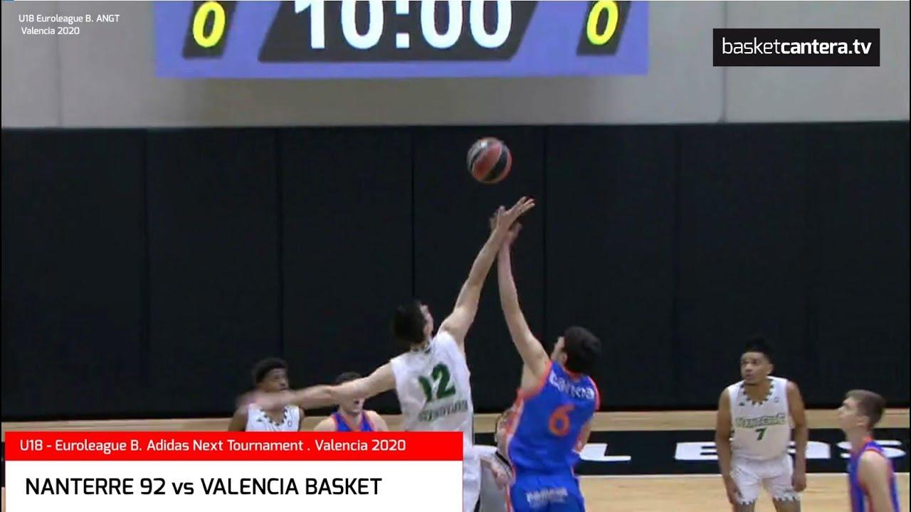 U18 - NANTERRE 92 vs VALENCIA BASKET. Euroleague B. #AdidasNGT. Por 7/8 puesto. Valencia 2020