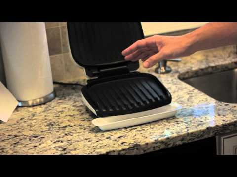 , George Foreman 4-Serving Nonstick Classic Contact Grill, Black, GR340FB