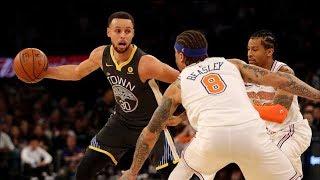Kevin Durant Says Zaza Clumsy Not Dirty! Warriors Blowout Knicks! 2017-18 Season