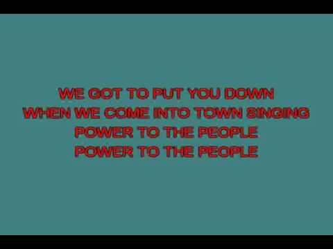 Power to the people   Lennon John [karaoke]