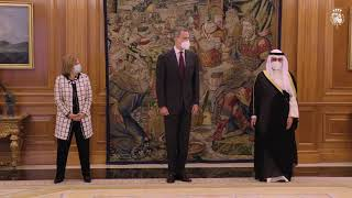 Audiencia de S.M. el Rey al Excmo. Sheikh Dr. Ahmad Nasser Al Mohammed Al Ahmed Al Jaber Al Sabah, ministro de Asuntos Exteriores y ministro de Asunto