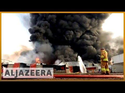 🇾🇪 Yemen: Huge fire 🔥 destroys aid supplies at Hodeidah port | Al Jazeera English