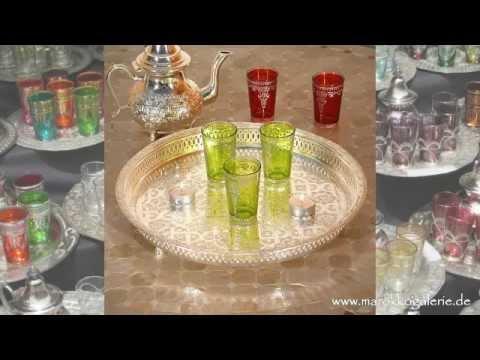 Orientalische Teegläser * marokkanische Teekannen * Tabletts * Teetische