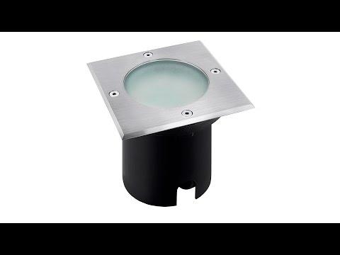 SSC-LUXon LED Bodeneinbaustrahler MADON - Eckig in Edelstahl gebürstet IP65 für den Außenbereich