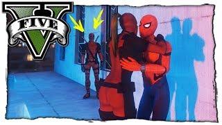 GTA 5 МОДЫ: Девушка Дэдпула Изменила Дэдпулу с Человеком Пауком! Видео Обзор Мода Игры ГТА 5 Mods