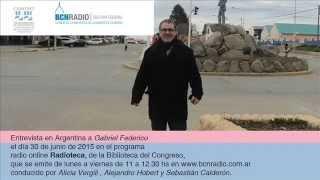 "Entrevista a Gabriel Federico en programa ""Radioteca"""
