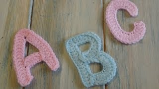 (crochet) How To - Crochet Letters A, B (P), and C - Yarn Scrap Friday