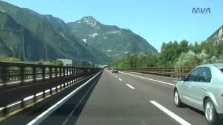 Italy / Italien Autostrada A22 Von Trento Nach Affi (Lago Di Garda Süd)