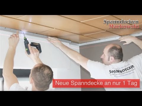 download link youtube holzdecken mit spanndecken renovieren montagevideo raumdecken. Black Bedroom Furniture Sets. Home Design Ideas