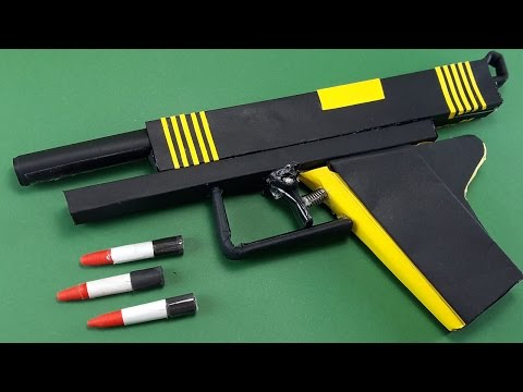 |DIY| How To Make A Paper Bee  Gun That Shoots-New Trigger | By Dr.Origami