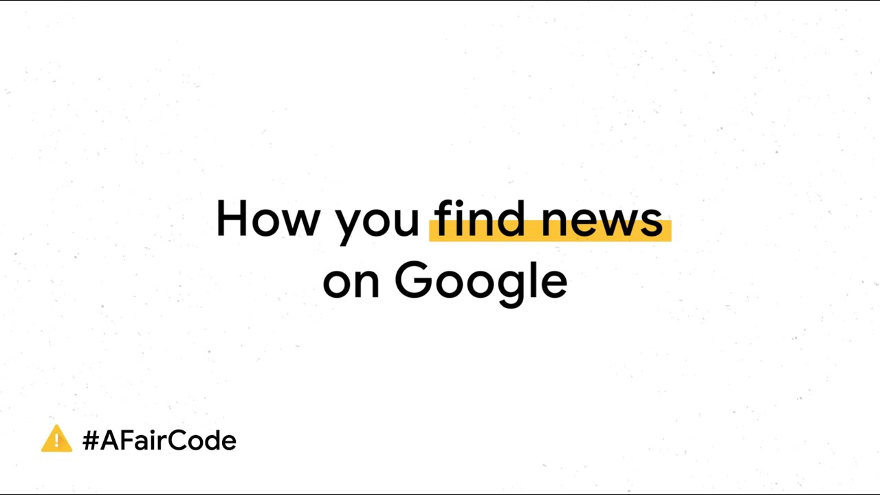 How you find news on Google