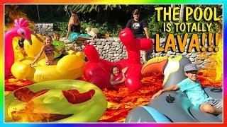 THE POOL IS LAVA! | OUR FIRST POOL PARTY | We Are The Davises