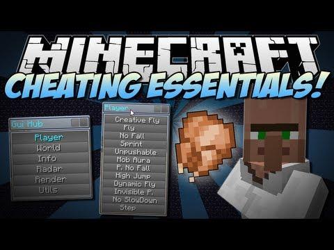 Minecraft | CHEATING ESSENTIALS! (Chest Finder, Flying & More!) | Mod Showcase [1.6.4]