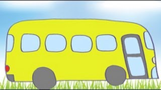 Dibujos de transportes para niños. Cómo dibujar un autobús