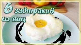 6 ПРОСТЫХ ЗАВТРАКОВ ИЗ ЯИЦ | Быстрые завтраки из Яиц | Бюджетный завтрак