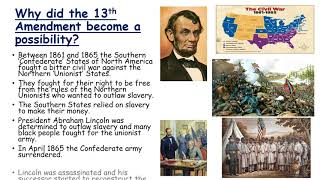 How was slavery abolished in the USA