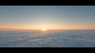 FPV Flying Wing sunset above the clouds