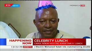 Celebrity lunch: KTN News staff interact with patients at the Jocham hospital in Mombasa
