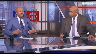 CHARLES BARKLEY REACTS TO LEBRON'S MISSED LAYUP AND CLUTCH 3 POINTER TO TIE THE GAME