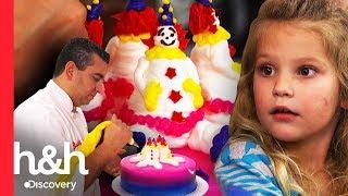 Buddy sorprende a clienta creando un pastel frente a sus ojos | Cake Boss | Discovery H&H