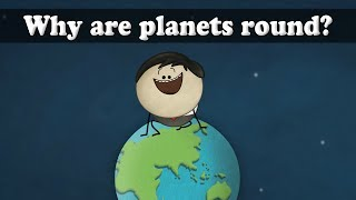 Gravity - Why are planets spherical?   #aumsum #kids #science #education #children