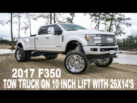 THE PERFECT TOW TRUCK! 2017 DUALLY F350 ON 26S WITH A 10 INCH LIFT KIT. TOWS LIKE A BEAST!!!