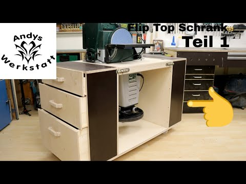 Teil 1: Flip Top Schrank / Drehbare Arbeitsplatte für zwei Maschinen