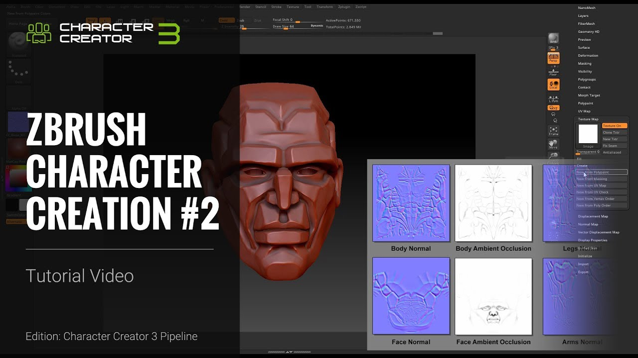 ZBrush Character Creation - Texture Paint