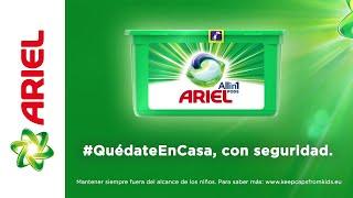 Ariel #QuédateEnCasa, con seguridad anuncio