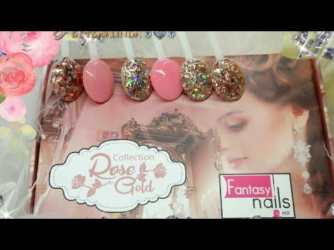 Reseña colección Rose Gold fantasy nails // Review Rose Gold  colección fantasy nails♡