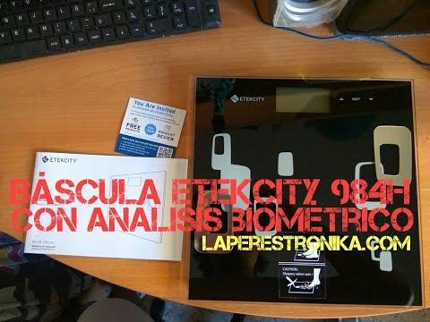 Review de la báscula Etekcity 984H con análisis biométrico completo