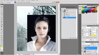 Урок фотошоп  Наложение картинки на картинку 1 Урок