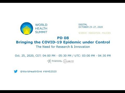 PD 08 - Opanowanie pandemii COVID-19 - World Health Summit 2020