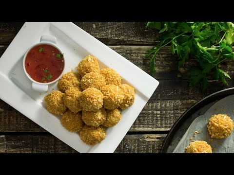 Baked Potato Cheese Balls Recipe