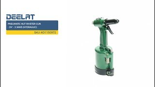 Pneumatic Nut Riveter Gun - 1/4