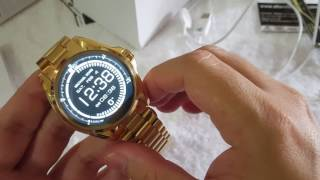 Relógio Michael kors access smart watch mkt 5001 Android dourado