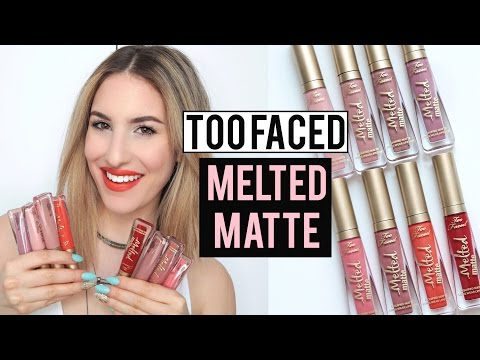 TOO FACED MELTED MATTE LIQUID LIPSTICK Review + Lip Swatches! | JamiePaigeBeauty