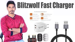 Blitzwolf Products Unboxing & Review | Dual USB Fast Charger, Charging Data Cable & Cable Organizer