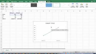 How to: 95% Confidence Interval Between-Group Design using Excel