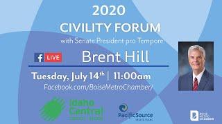 Senate President Pro Tem Brent Hill