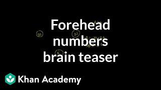Forehead Numbers Brain Teaser