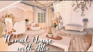 ROBLOX | BLOXBURG:  Floral House With Attic Bedroom | Speedbuild