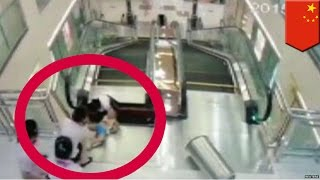 Женщина погибла на эскалаторе, успев спасти своего ребёнка