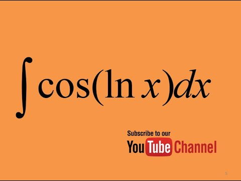 integral of cos(lnx) How to integrate? Integral by substitution Calculus Indefinite Integral