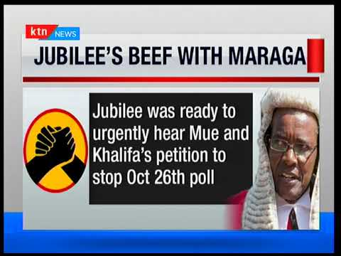 Jubilee writes a harsh letter to Chief justice David Maraga claiming he's biased in favor of NASA