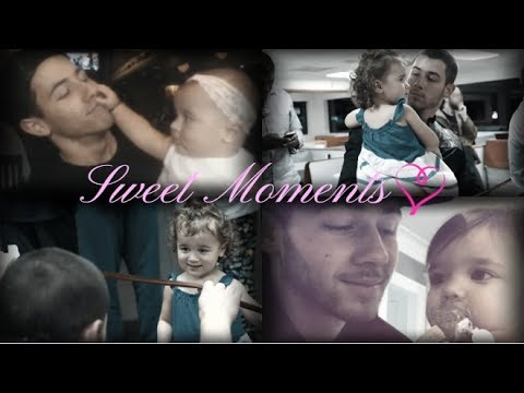 Uncle Nick Jonas with Alena and Valentina (sweet moments!) ❤ (видео)