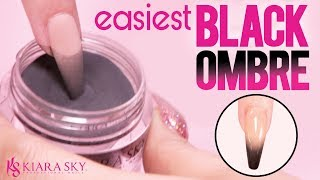 🤯 Easy Black Ombre With Dip Powder🖤 Dip Nail Tutorial 💅🏽