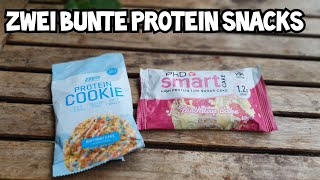 PhD Smart Cake und Muscle Pharm Protein Cookie Birthday Cake Review   Nährwerte und Geschmack